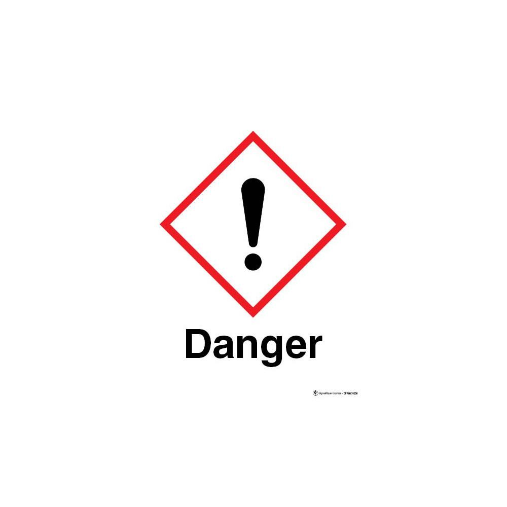Panneau Danger matières nocives ou irritantes SGH07