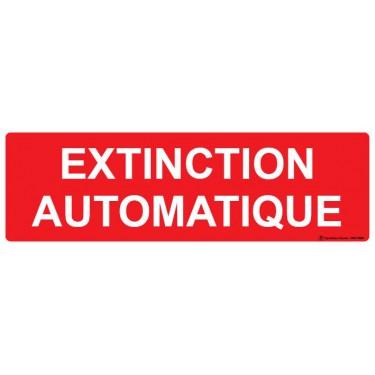 Panneau Extinction automatique