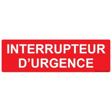 Panneau Interrupteur d'urgence
