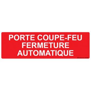 Panneau Porte coupe-feu fermeture automatique