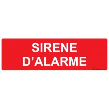 Panneau Sirène d'alarme