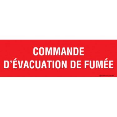 Panneau Commande d'évacuation de fumée