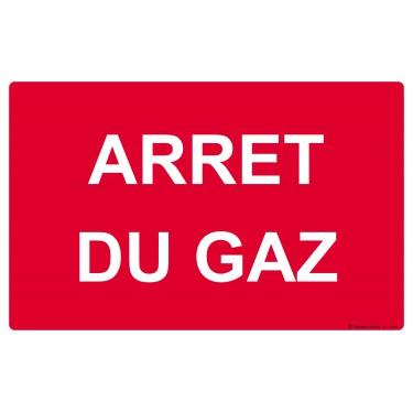 Panneau Arrêt du Gaz