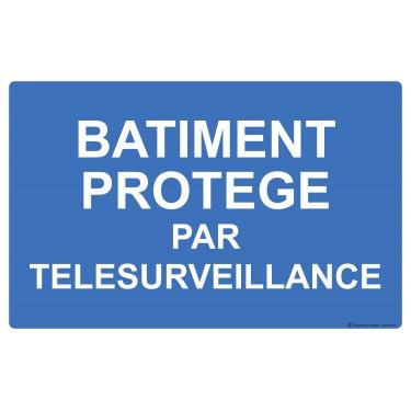 Panneau Bâtiment protégé par télésurveillance