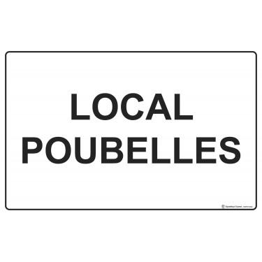 Panneau Local poubelles