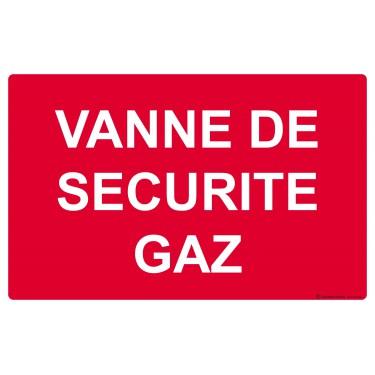 Panneau Vanne de sécurité gaz
