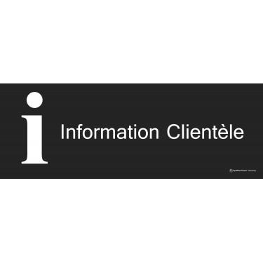 Panneau Information clientèle