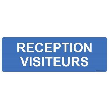 Panneau rectangulaire Réception visiteurs