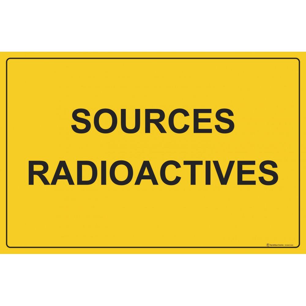 Panneau Sources radioactives