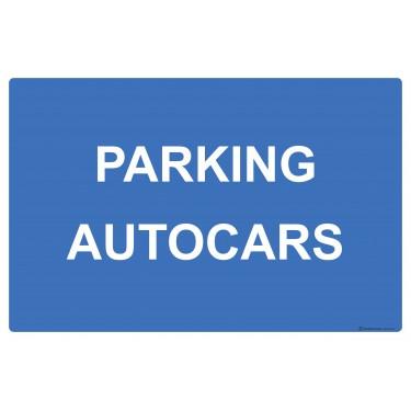 Panneau rectangulaire Parking autocars