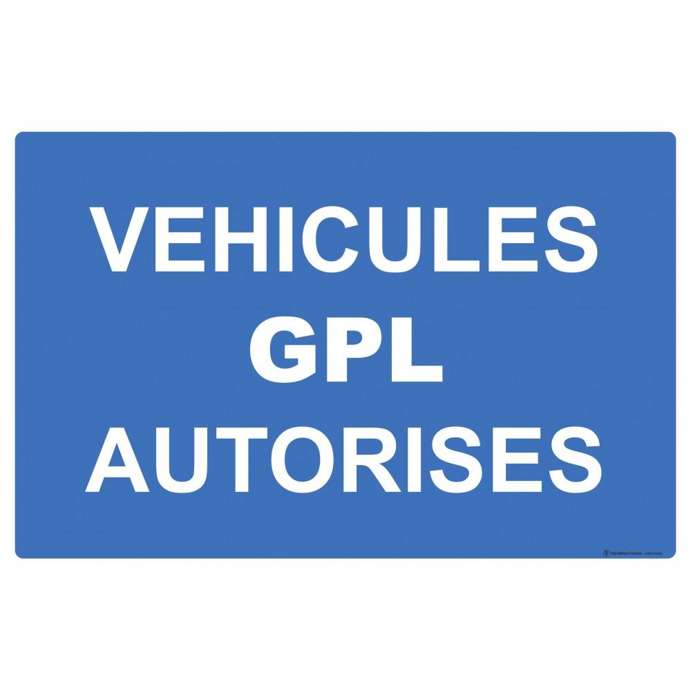 Panneau Véhicules GPL autorisés
