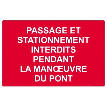Panneau Passage et stationnement interdits
