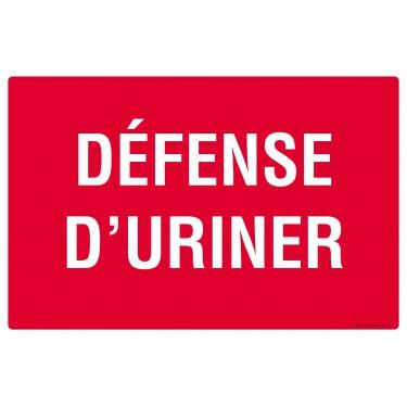 Panneau Défense d'uriner