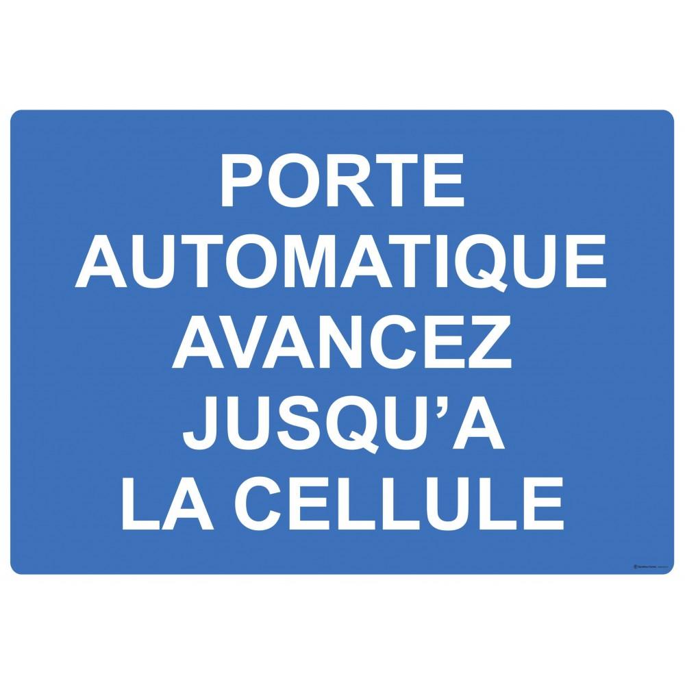 Panneau Porte automatique avancez jusqu'à la cellule