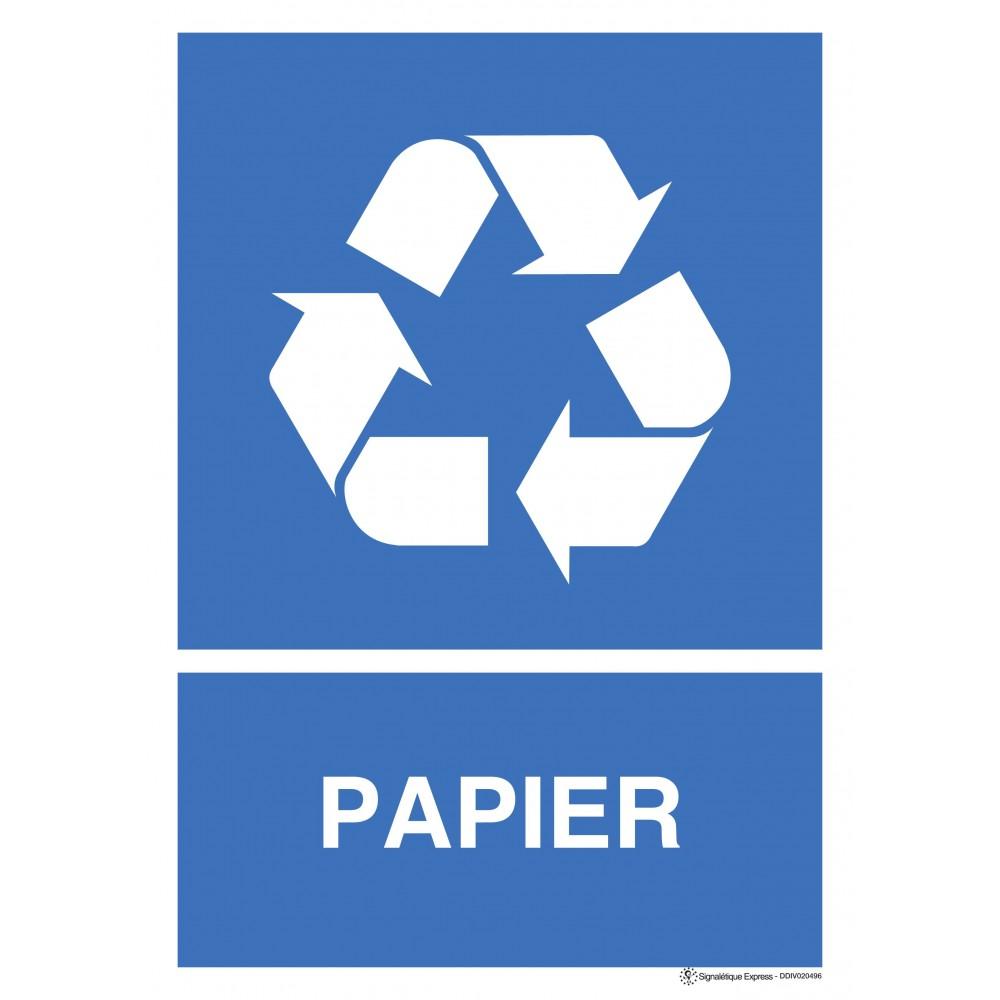 Panneau Tri sélectif papier