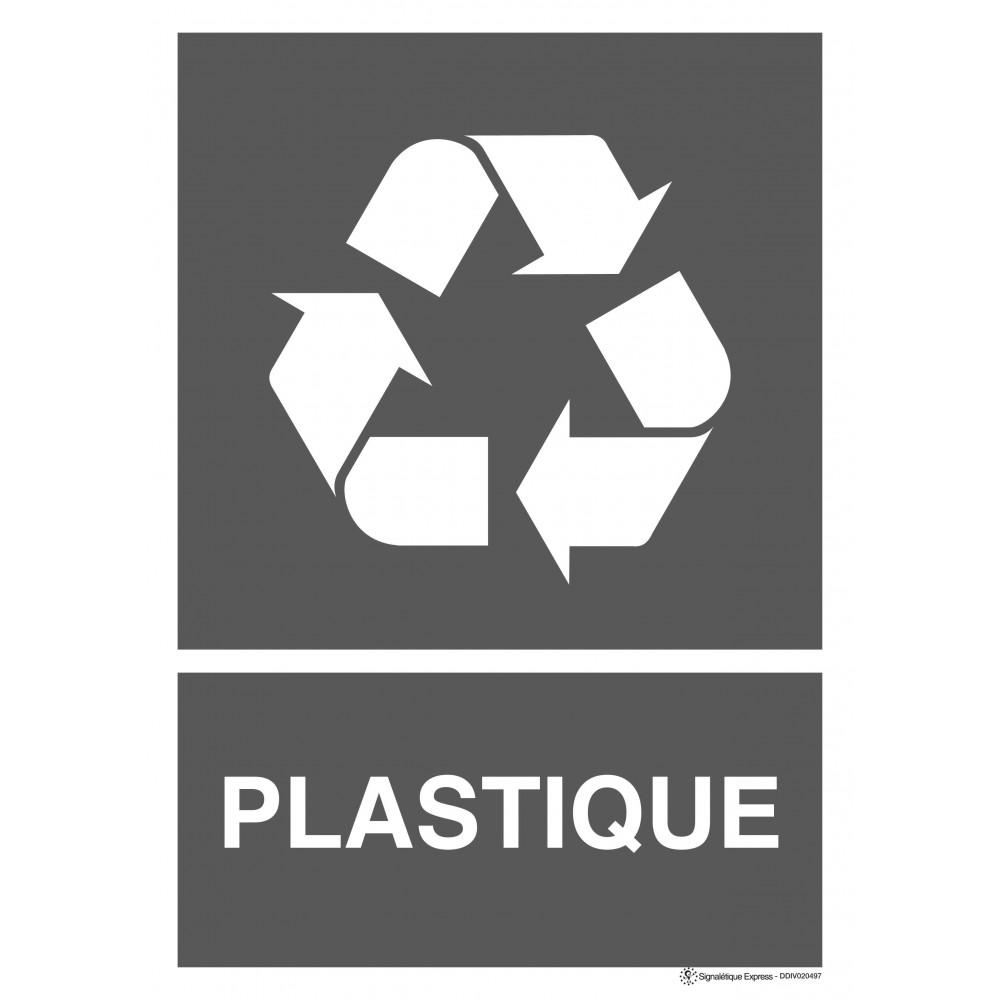Panneau Tri sélectif plastique