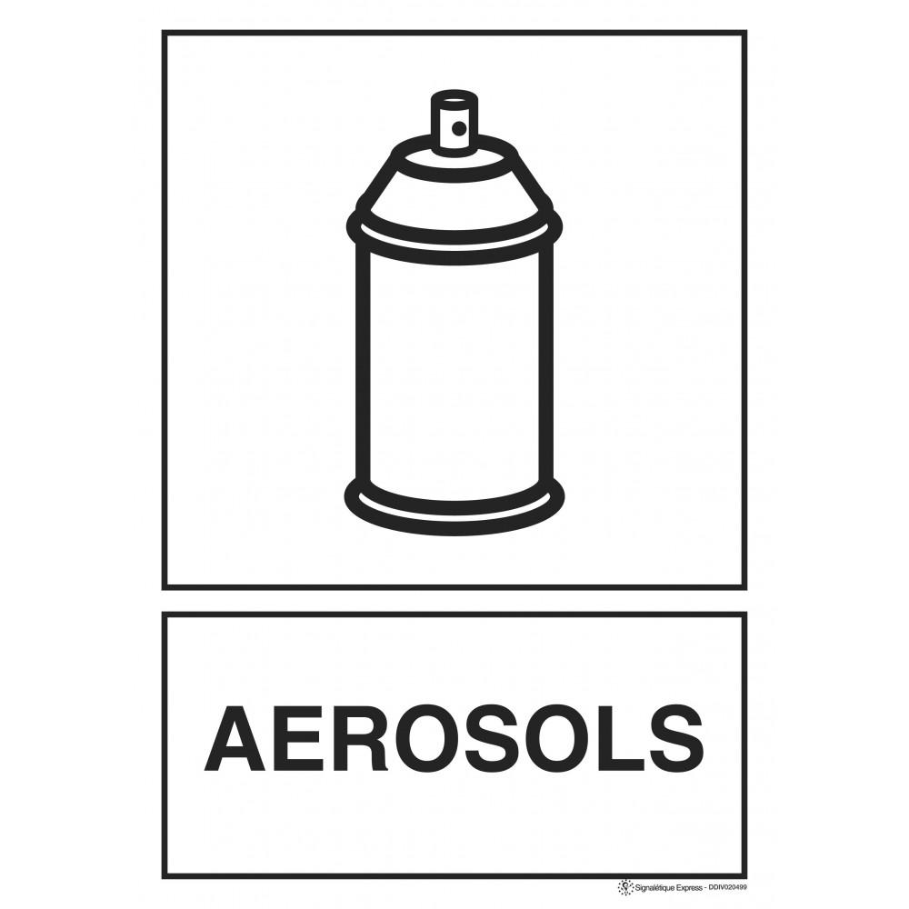 Panneau Tri sélectif aérosols