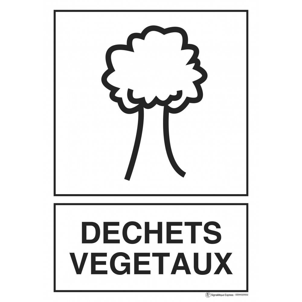 Panneau Tri sélectif déchets végétaux
