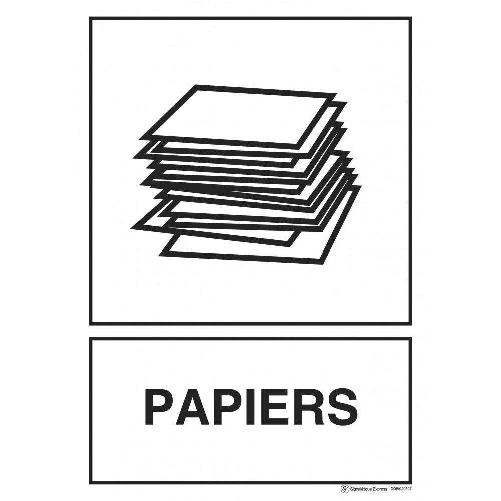 Panneau Tri sélectif papiers