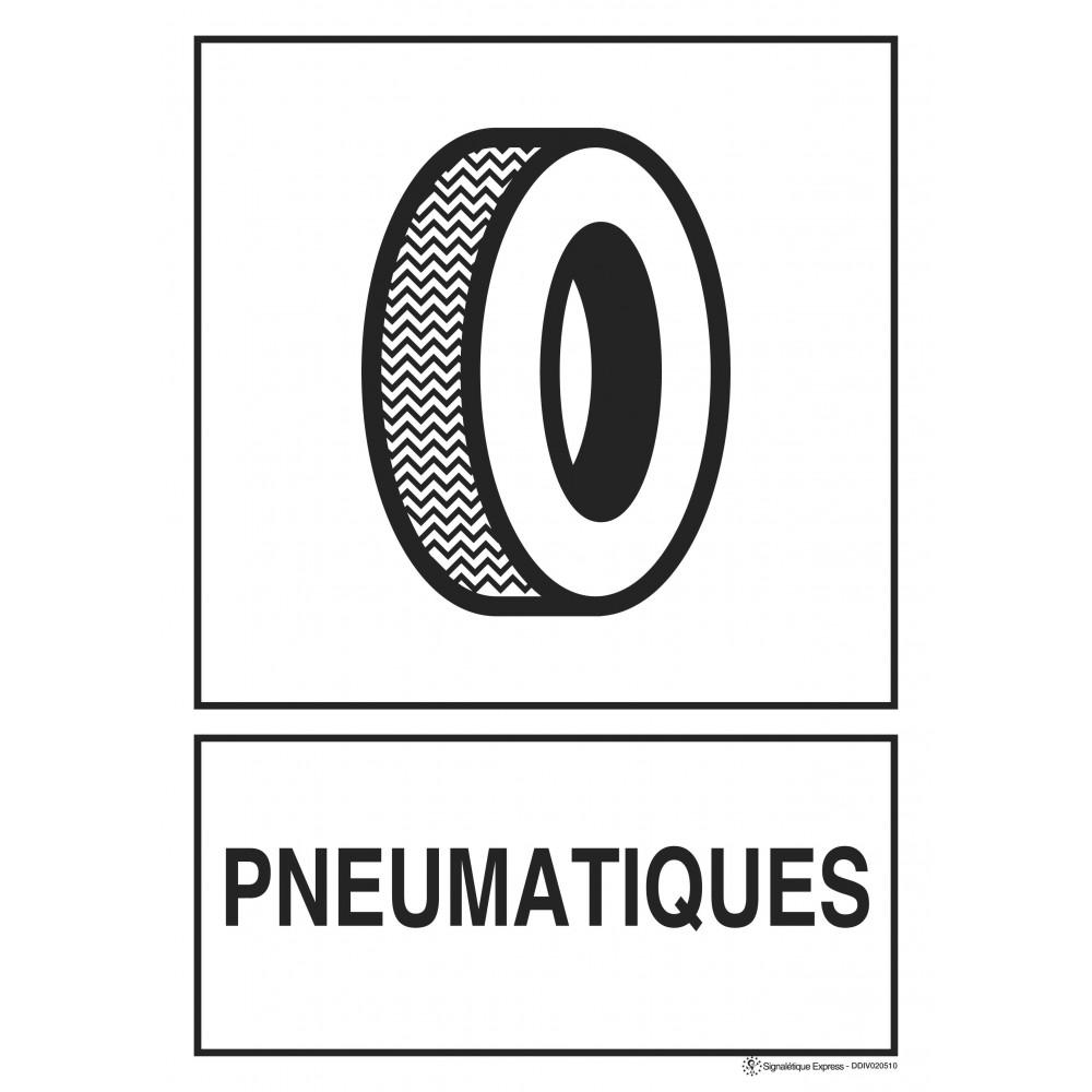 Panneau Tri sélectif pneumatiques
