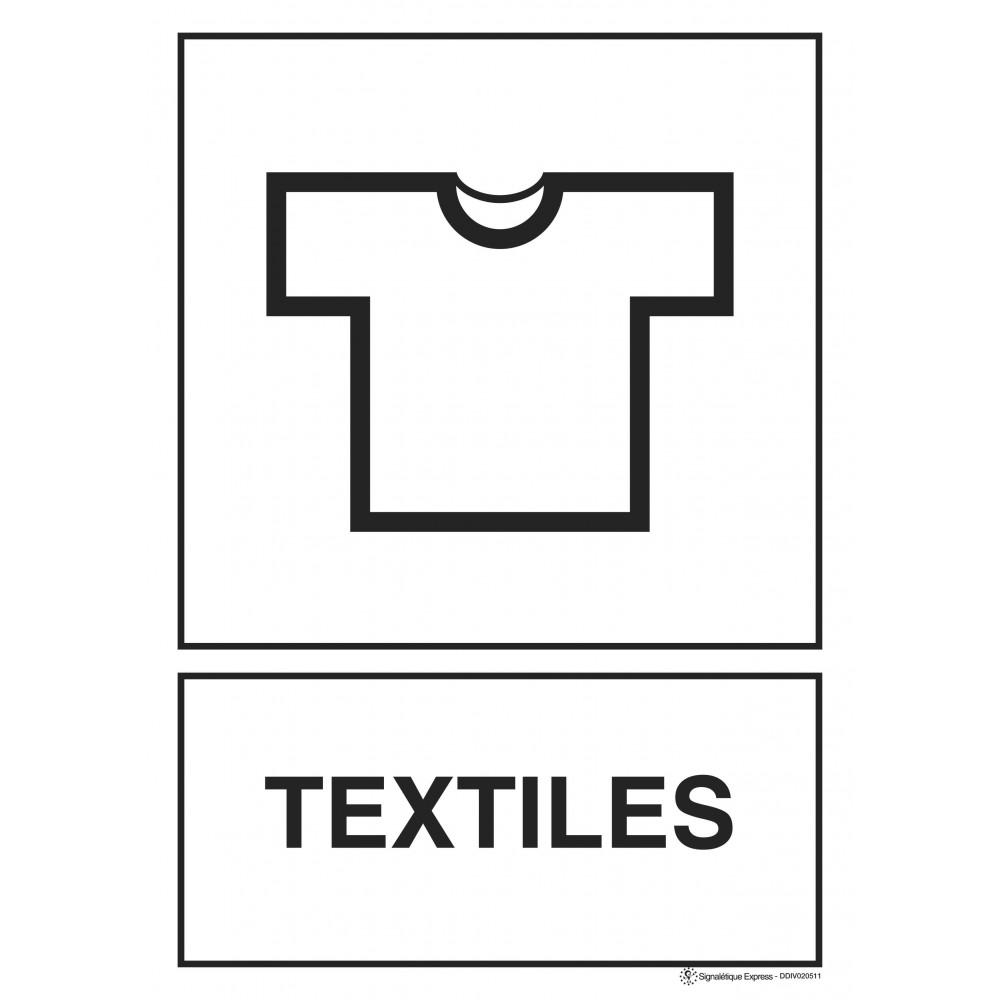 Panneau Tri sélectif textiles