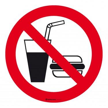 Autocollants Interdiction de boire ou de manger - hamburger et soda