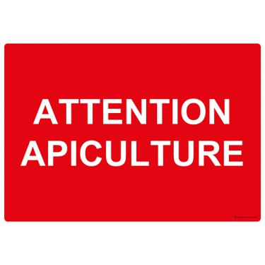 Panneau Attention apiculture