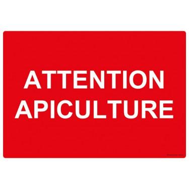 Panneau rectangulaire Attention Apiculture