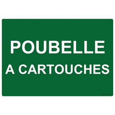 Panneau rectangulaire Poubelle à Cartouches
