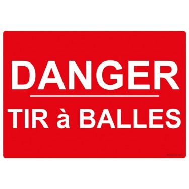 Panneau Danger tir à balles