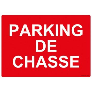 Panneau rectangulaire Parking de Chasse