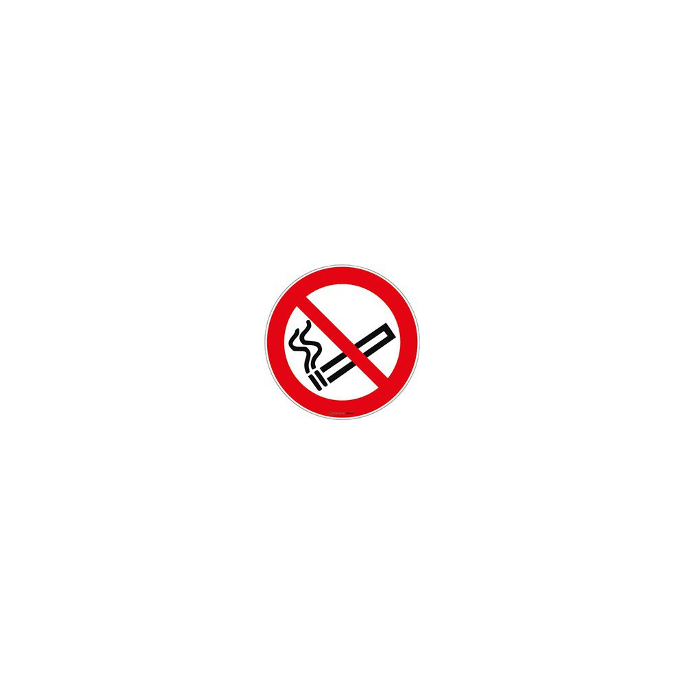 Lot de 5 autocollants Interdiction de fumer ISO 7010 P002