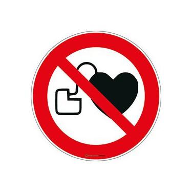 Panneau Interdit aux porteurs d'un stimulateur cardiaque ISO 7010 P007