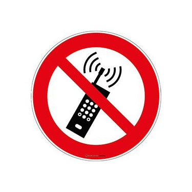 Panneau Téléphone portable Interdit ISO 7010 P013