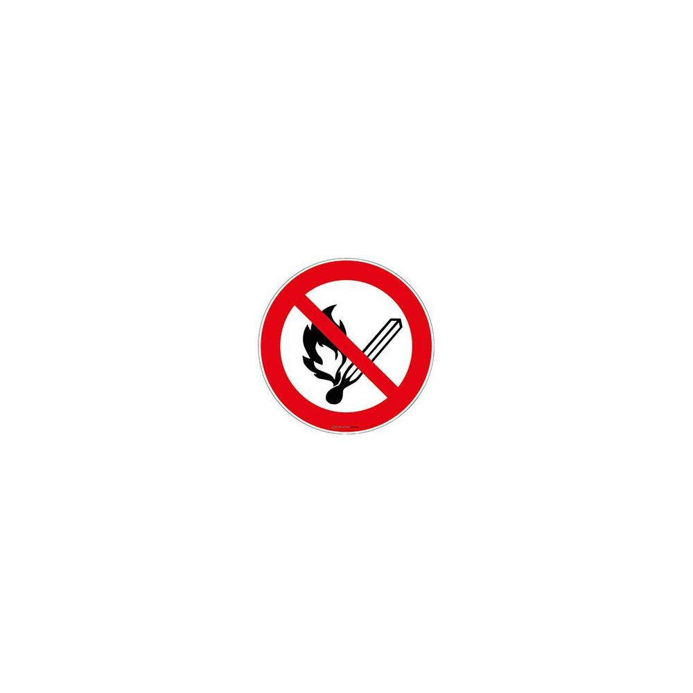 Panneau Flammes nues interdites ISO 7010 P003