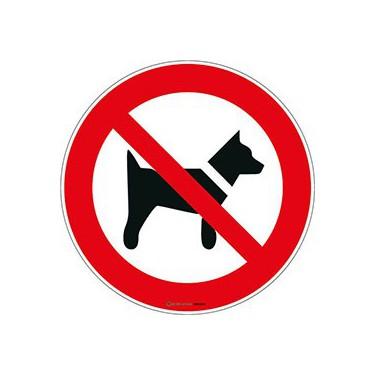 Panneau Interdit aux chiens ISO 7010 P021
