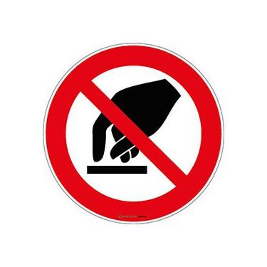 Panneau Interdiction de toucher ISO 7010 P010