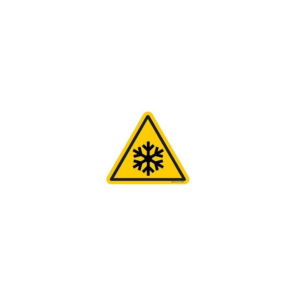Autocollants Danger basse température ISO 7010 W010