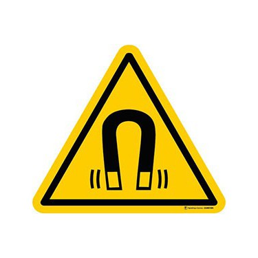 Panneau Danger champ magnétique important ISO 7010 W006