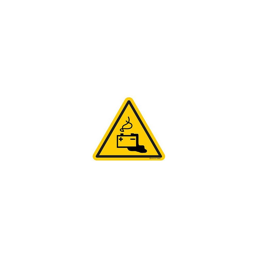 Autocollants Danger Charge de la batterie en cours - Lot de 5