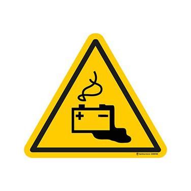 Panneau Danger charge de la batterie en cours ISO 7010 W026