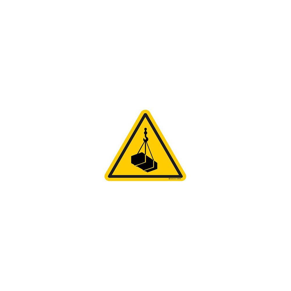 Panneau Danger charges suspendues ISO 7010 W015