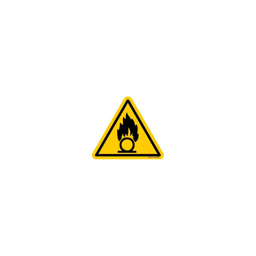 Autocollants Danger Substances Comburantes - Lot de 5