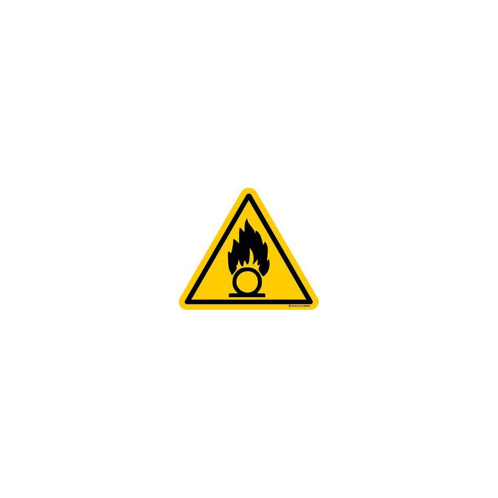 Panneau Danger substances comburantes ISO 7010 W028