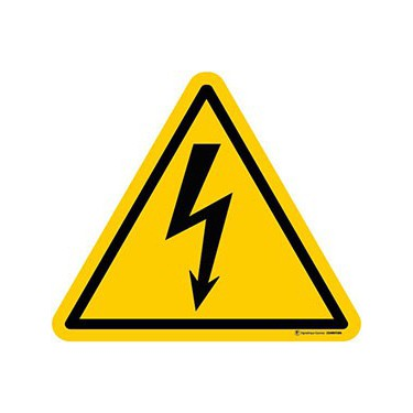 Lot de 5 autocollants Danger Electricité