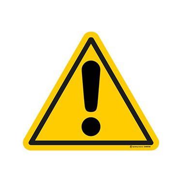 Autocollants Danger ISO 7010 W001