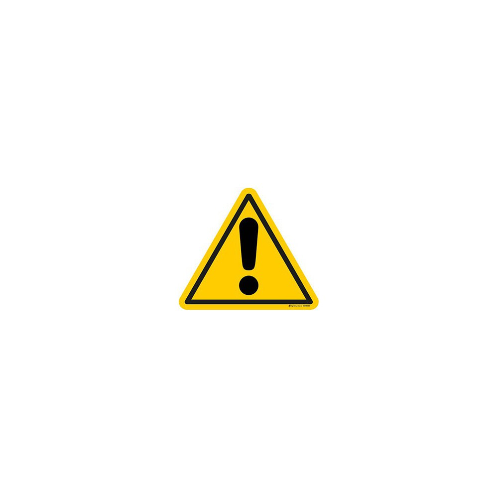 Panneau Danger ISO 7010 W001
