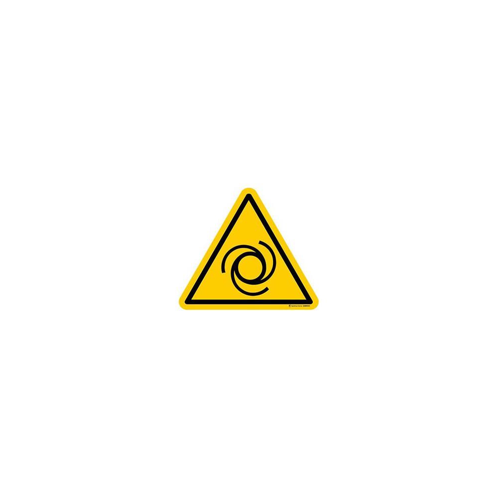 Autocollants Danger démarrage automatique ISO 7010 W018