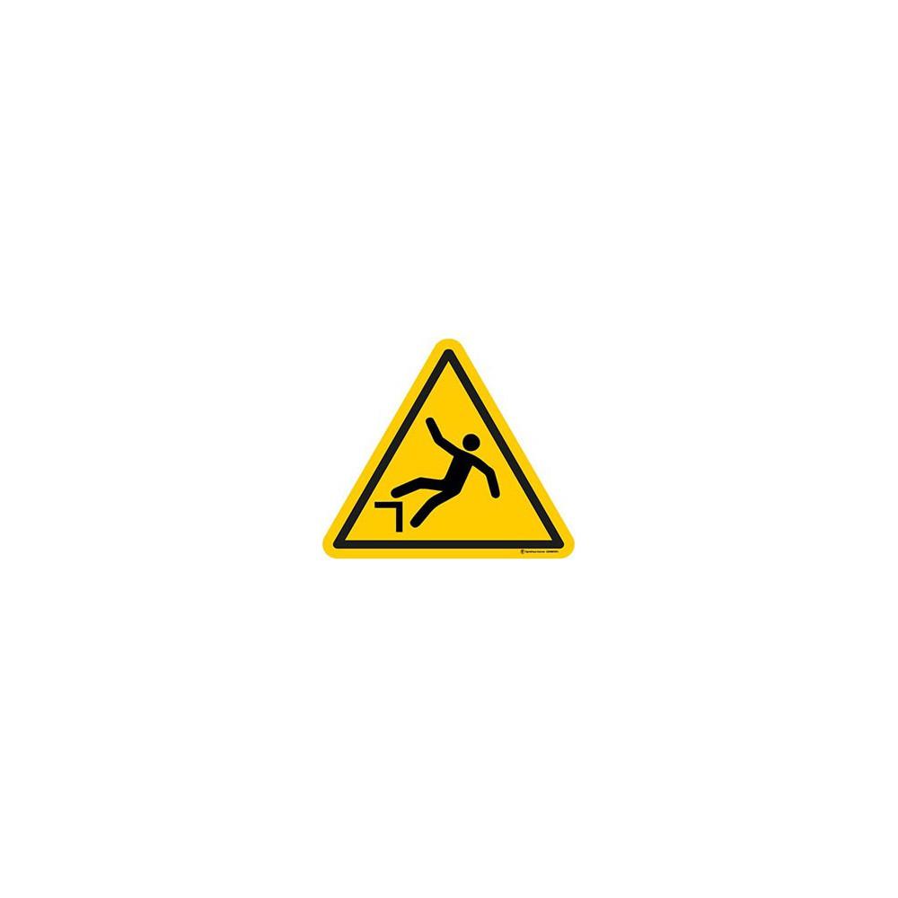 Autocollants Danger Chute avec Dénivellation - Lot de 5