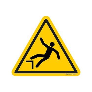 Panneau Danger chute avec dénivellation ISO 7010 W008